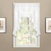Vienna Eyelet Kitchen Curtain swag - White