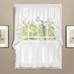 Vienna Eyelet Kitchen Curtain - White