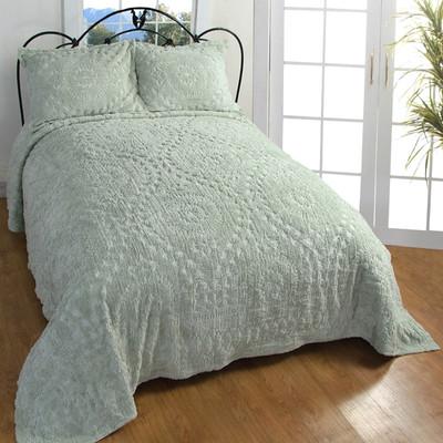 Rio Chenille Bedspread Sage Linens4less Com