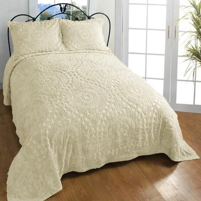 Rio Chenille Bedspread - Natural