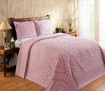 Rio Chenille Bedspread - Rose