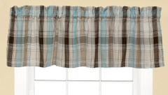 Cooper Kitchen Curtain Valance - Blue
