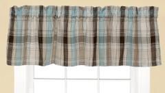 Cooper Kitchen Curtain Valance - Blue