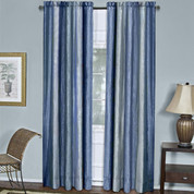 Ombre Rod Pocket Curtain Panel - Blue