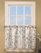 "By The Sea kitchen curtain 36"" tier"