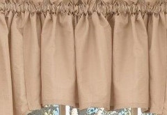 Seersucker kitchen curtain valance - Linen