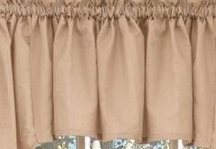 Seersucker kitchen curtain valance - Linen