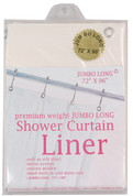 "Bulk Case Pack 10 Gauge Vinyl Shower Curtain Liner - 96"" long"