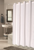 Bulk Case Pack Hookless Fabric Shower Curtain Checks - Extra long size White