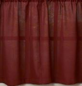 "Ribcord 36"" kitchen curtain tier - Wine"