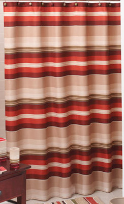 Madison Stripe - Fabric Shower Curtain