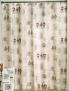 Sarasota seashells fabric Shower Curtain