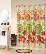 Festiva Shower Curtain and Bathroom Accessories by Allure Home