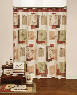 Inspire Shower Curtain & Bathroom Accessories from Saturday Knight Ltd