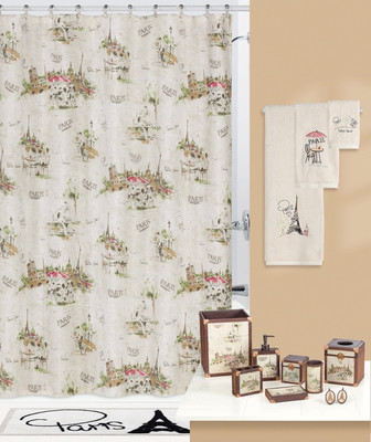 I Love Paris Shower Curtain & Bathroom Accessories