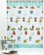 Raining Cats & Dots from Saturday Knight Ltd shower curtain and bathroom accessories