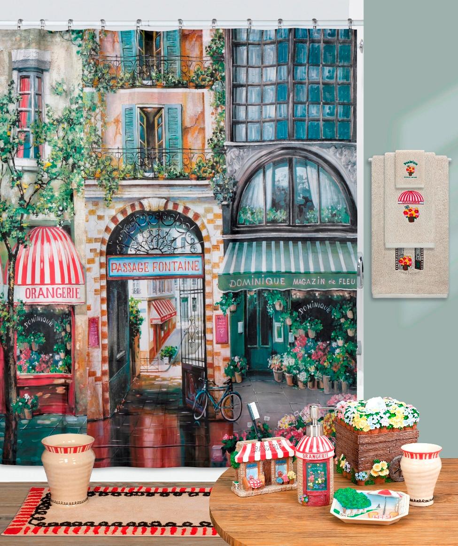 ... Shower Curtain & Accessories Rue di Rivoli Shower Curtain & Bathroom