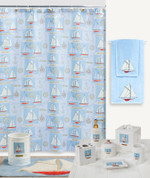 Sailing Shower Curtain & Bathroom Accessories