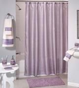 Shimmer Stripes Purple Shower Curtain & Bathroom Accessories