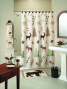 Silhouette Lodge Shower Curtain & Bathroom Accessories collection from Saturday Knight