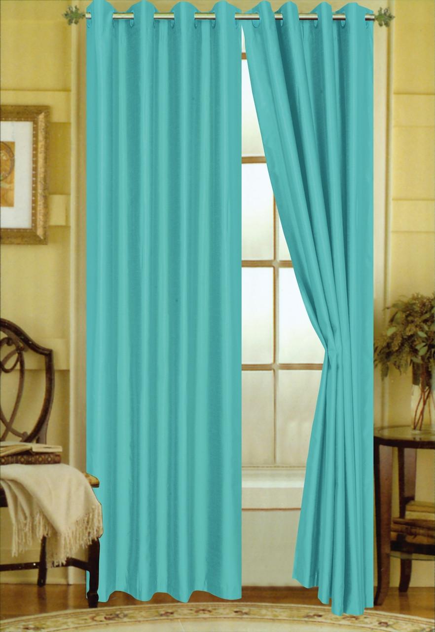 Elaine Grommet Top Curtain Turquoise