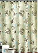 Whimsy Floral - Fabric Shower Curtain