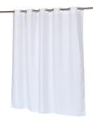 Waffle Weave White - EZ On Hookless Fabric Shower Curtain