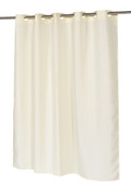 Waffle Weave EZ On Hookless Fabric Shower Curtain - Ivory