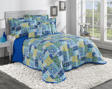 Kendall Quilted Bedspreads - Aqua