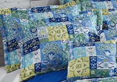 Kendall Quilted Pillow Sham - Aqua
