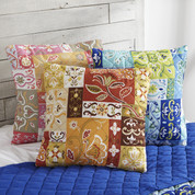 Kendall Quilted Throw Pillow - Aqua