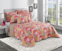 Kendall Quilted Bedspreads - Coral