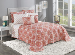Trina Quilted Bedspread - Cinnamon