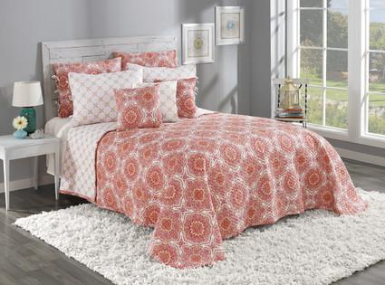 Trina Quilted Bedspread - Cinnamon