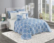 Trina Quilted Bedspread - Cobalt