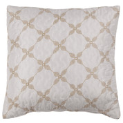 Trina Quilted Reversible Throw Pillow - Cinnamon