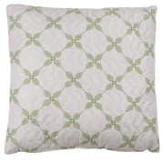 Trina Quilted Reversible Throw Pillow - Cobalt