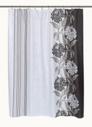 Chelsea Black - Fabric Shower Curtain