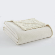Sherpa Reversible Blanket - Ivory from Shavel