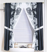 Chelsea Black - Fabric Window Curtain