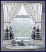 Fleur Silver - Fabric Window Curtain