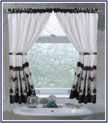 Metro Black - Fabric Window Curtain