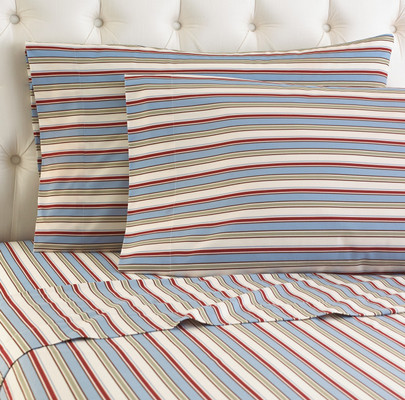 Micro Flannel Sheet Set - Awning-Stripe from Shavel
