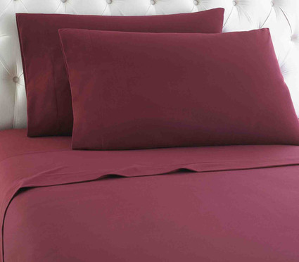 Micro Flannel Solid Sheet Set - Wine from Shavel