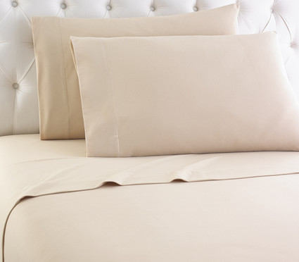 Micro Flannel Solid Sheet Set - Chino From Shavel