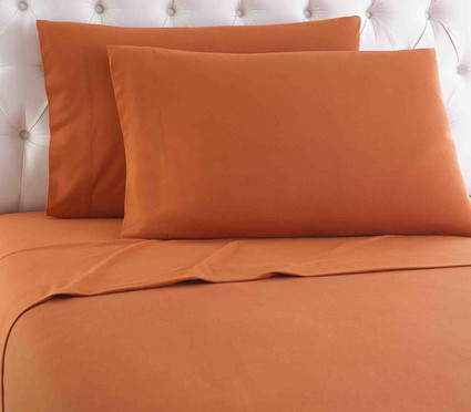 Micro Flannel Solid Sheet Set - Terracotta from Shavel