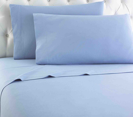 Micro Flannel Solid Sheet Set - Wedgewood