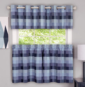 Harvard Kitchen Curtains - Blue From Achim