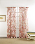 "Cecilia Rod Pocket Curtain 84"" long - Coral"
