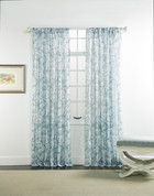 "Cecilia Rod Pocket Curtain 84"" long - Rain"